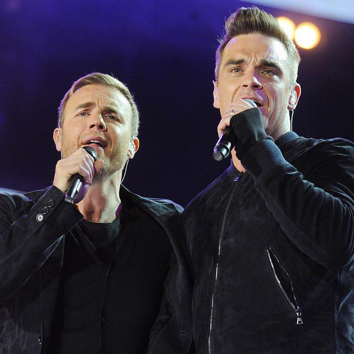 Gary Barlow & Mark Owen danken Robbie Williams für Brit Award