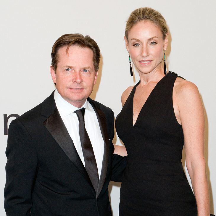 Michael J. Fox mit seiner Frau.
