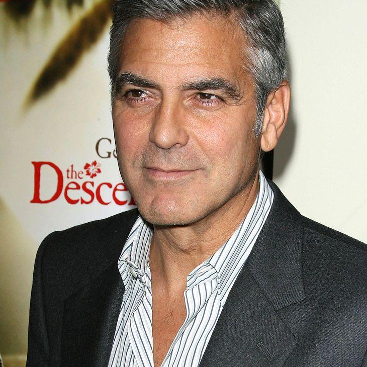 George Clooney bringt Kollegin ein Ständchen