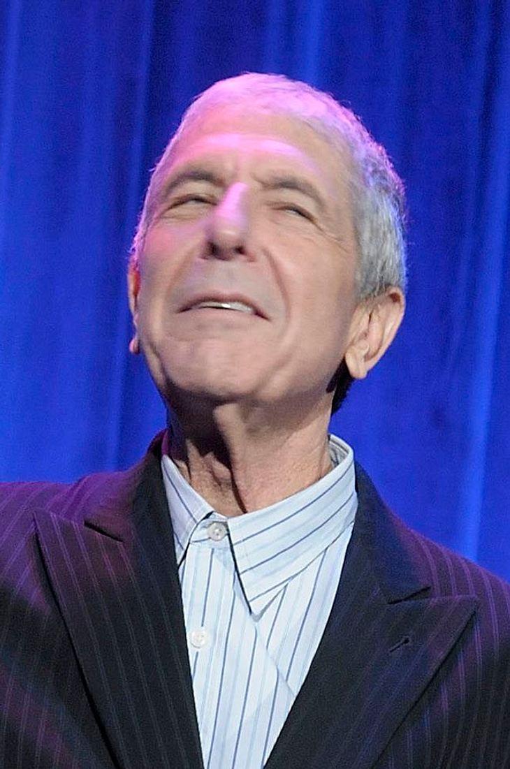 Leonard Cohen auf der Bühne zusammengebrochen