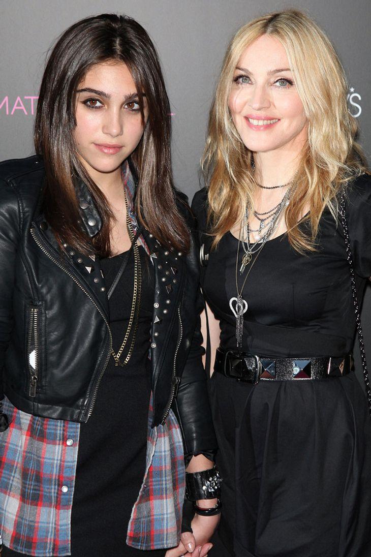 Madonna & Lourdes stellen Modelinie in New York vor
