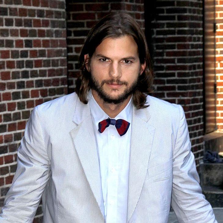 Ashton Kutcher macht sich über Drohungen gegen Letterman lustig