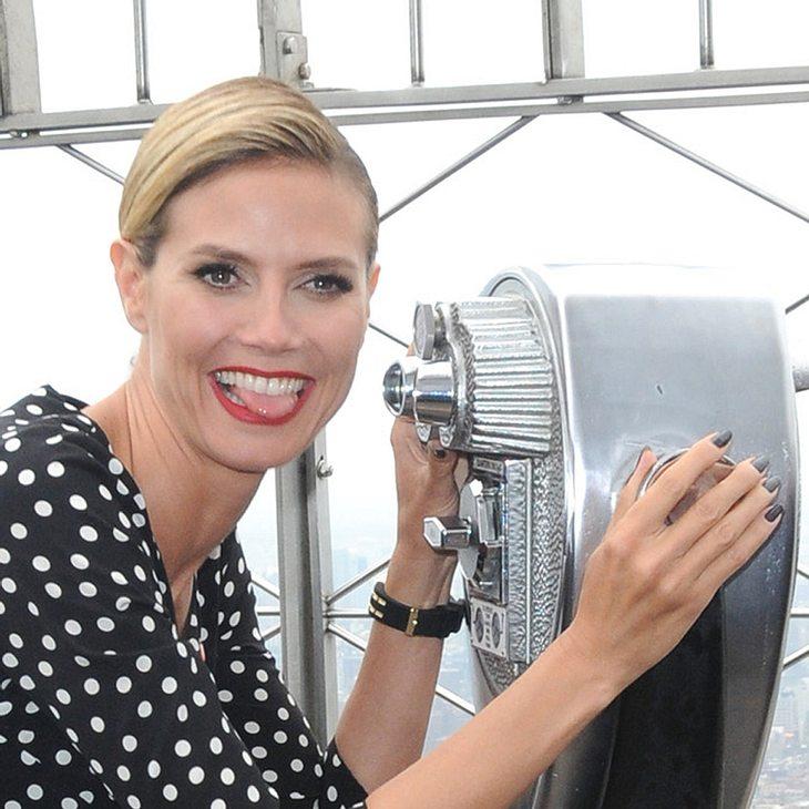 Heidi Klum knipst dem Empire State Building die Lichter an