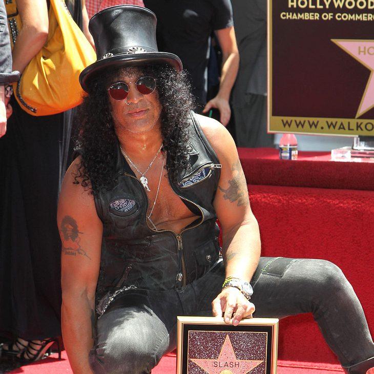 Slash enthüllt Stern auf dem Walk of Fame