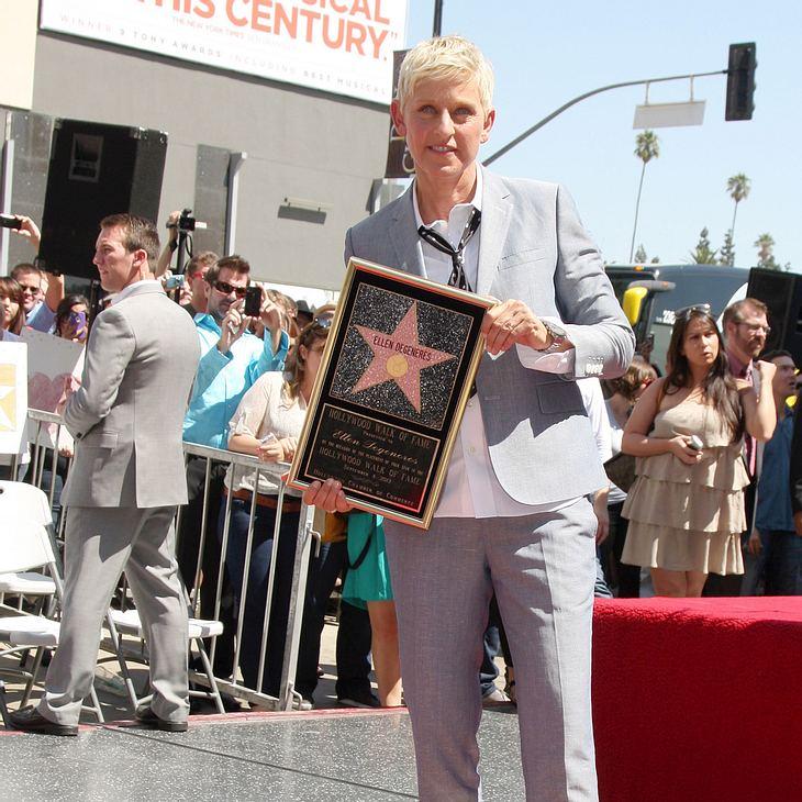 Ellen DeGeneres erhält Stern auf dem Walk of Fame