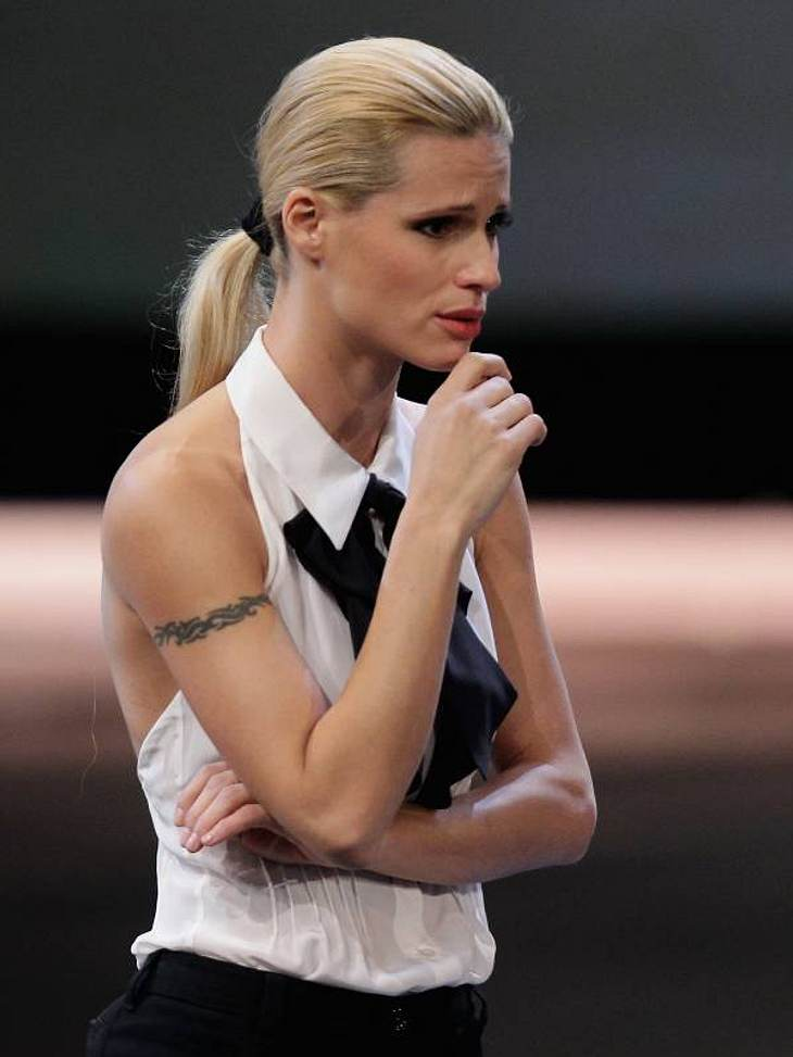Michelle Hunziker stand der Shock ins Gesicht geschrieben.