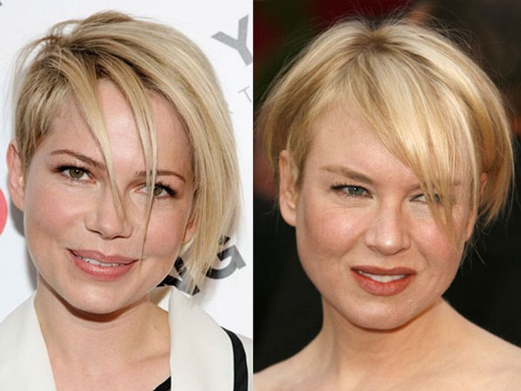 Michelle Williams und Renee Zellweger im Zwillings-Look.