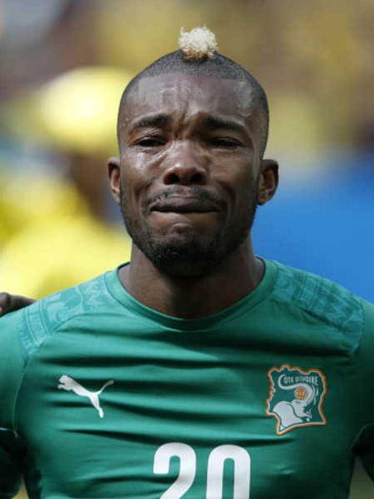 Der WM-Spieler für die Elfenbeinküste brach bei der Hymne in Tränen aus