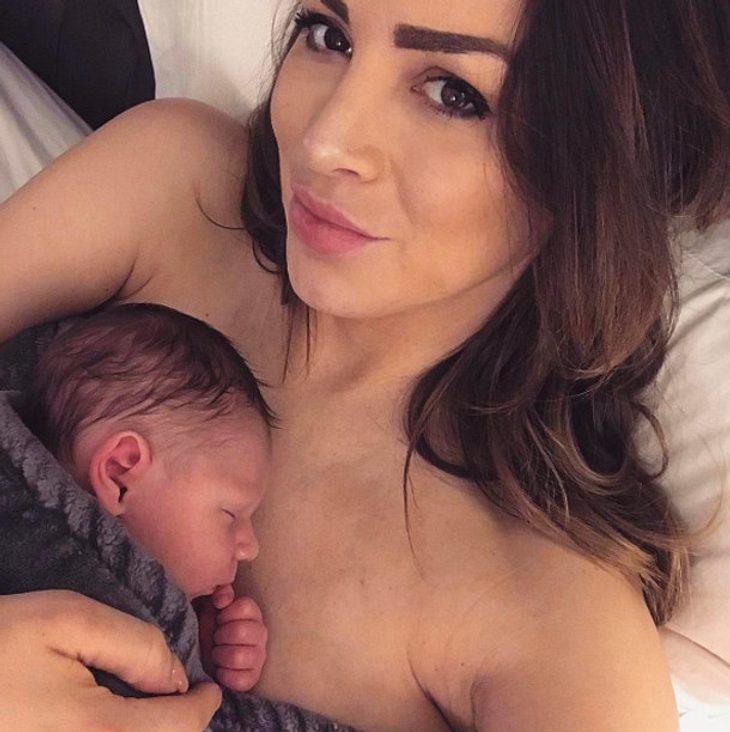 Jordan Carver zeigt ihr Baby