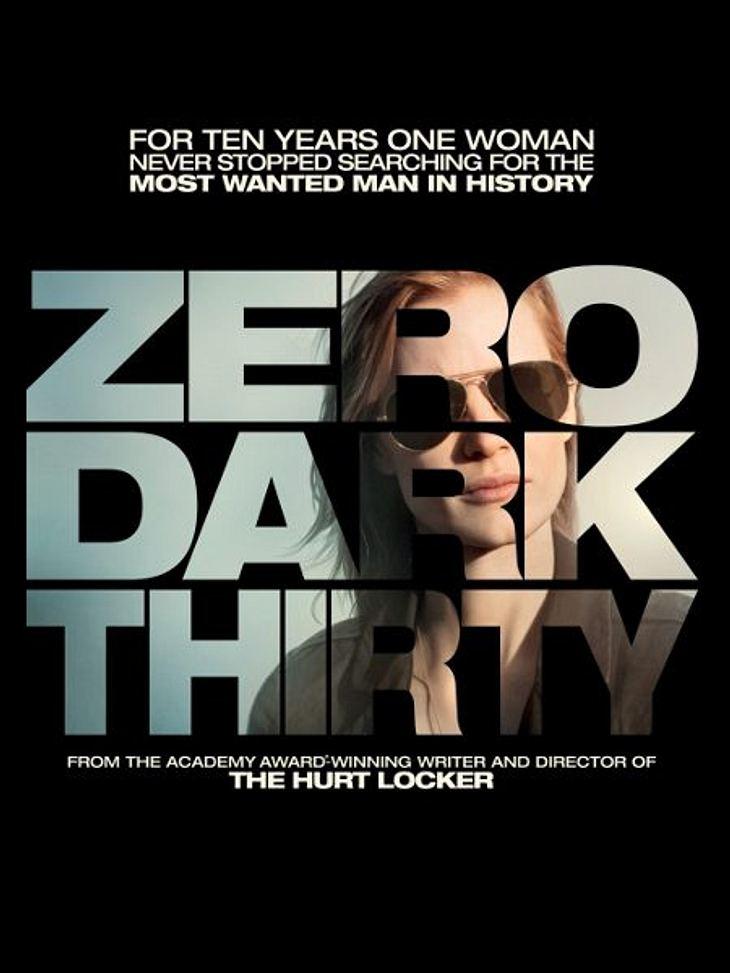 """Die Oscar-Filme 2013""""Zero Dark Thirty"""" ist der Film um die lange Suche und die schlussendliche Ermordung von Osama bin Laden. """"Zero Dark Thirty"""" benennt die Zeit, zu der der Zugriff auf das Versteck von Bin Laden begonne"""