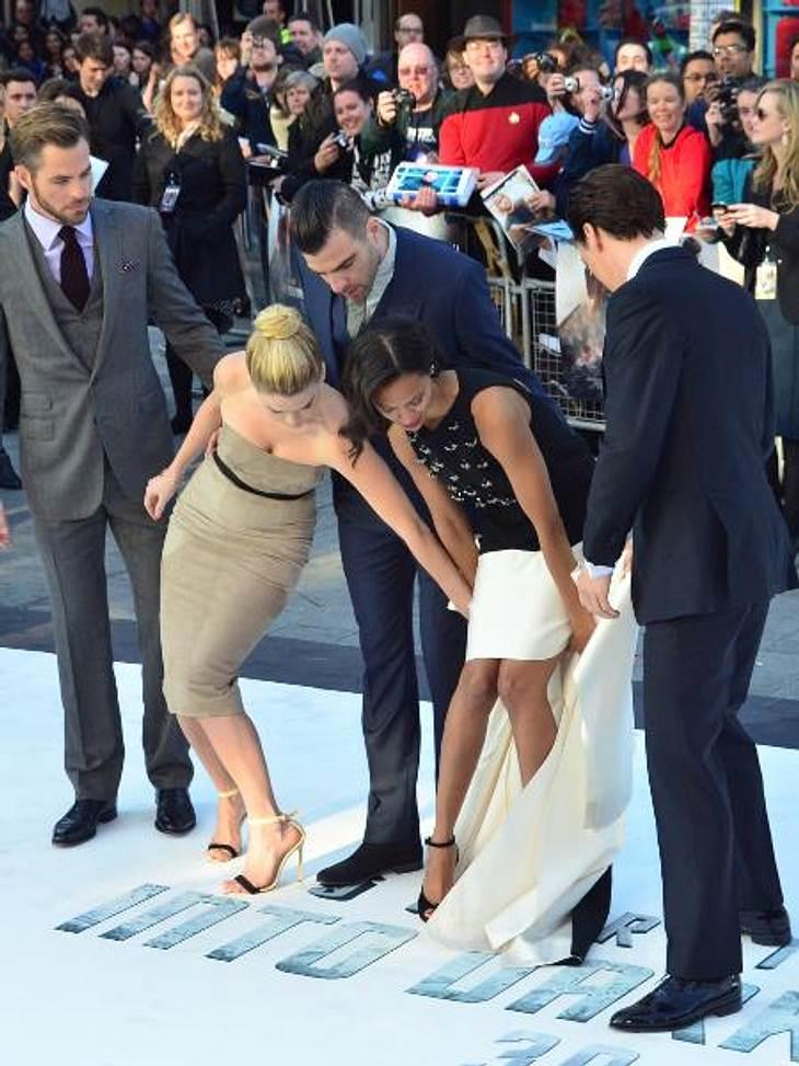 Zoe Saldana: Kleider-Panne auf dem roten Teppich