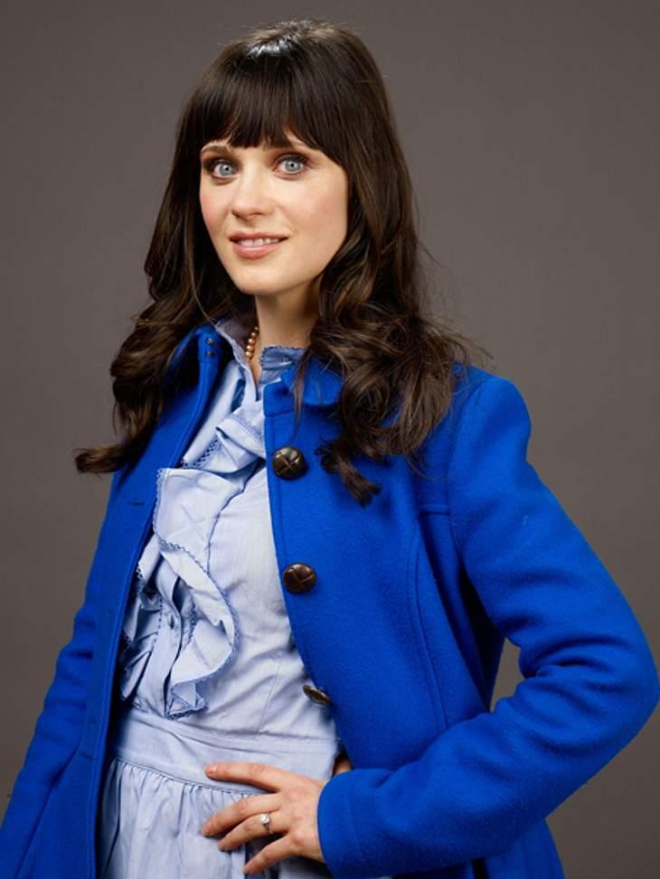 Star-Style: Mädchenhaft wie Zooey DeschanelWie schon gesagt, Blau ist definitiv die Farbe von Zooey Deschanel.