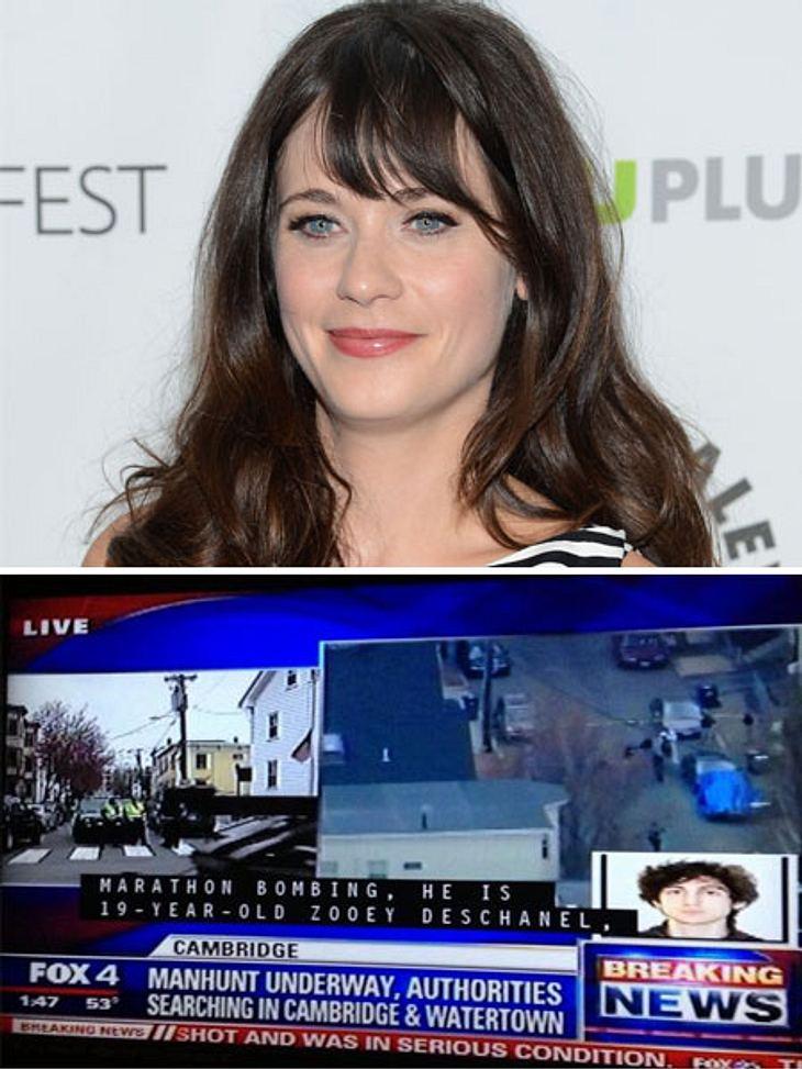 Zooey Deschanel ist Schauspielerin. Keine Bombenlegerin.